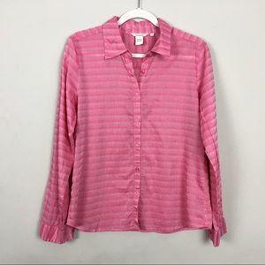 Sundance button down shirt pink 10 EUC